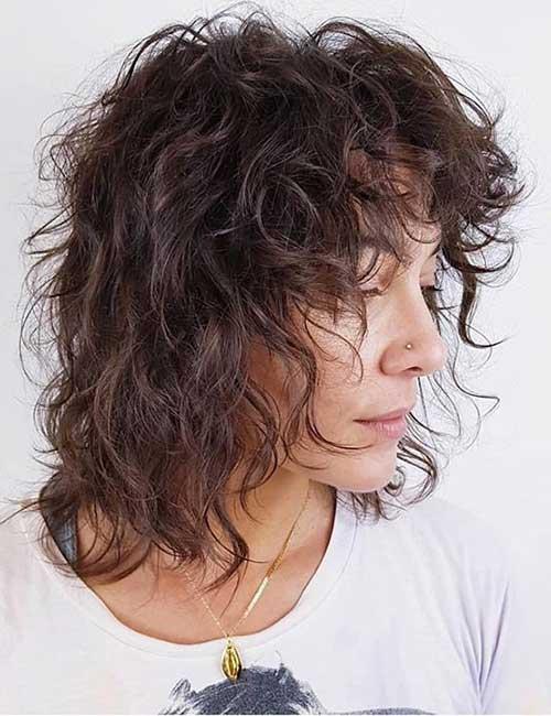 Messy Curls Shag