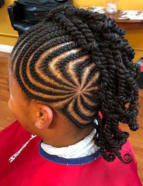 Patterned Braided Mohawk