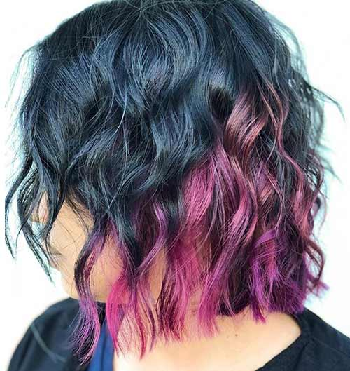 Pink And Purple Shag