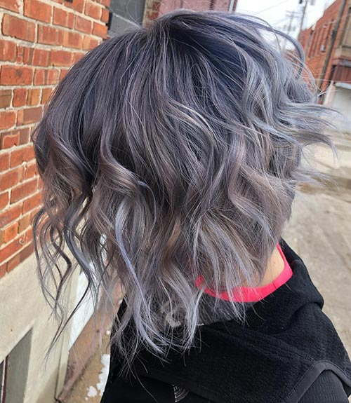 Purple-Gray Hair