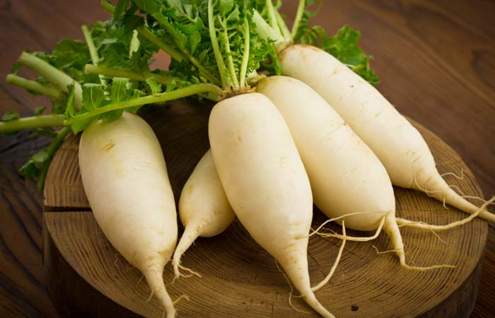 Radish for Ascites in Hindi