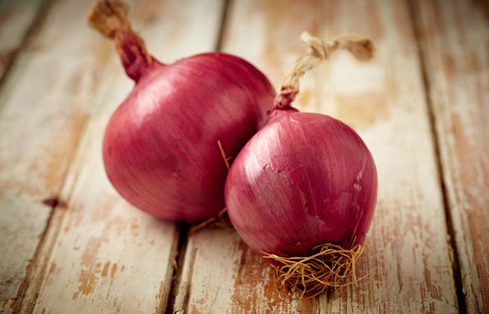 Red onion for Pigmentation in Hindi