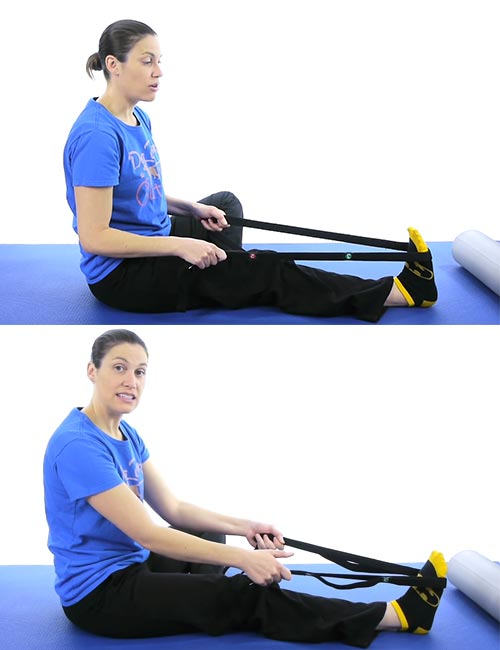 Resistance Band Calf Stretch