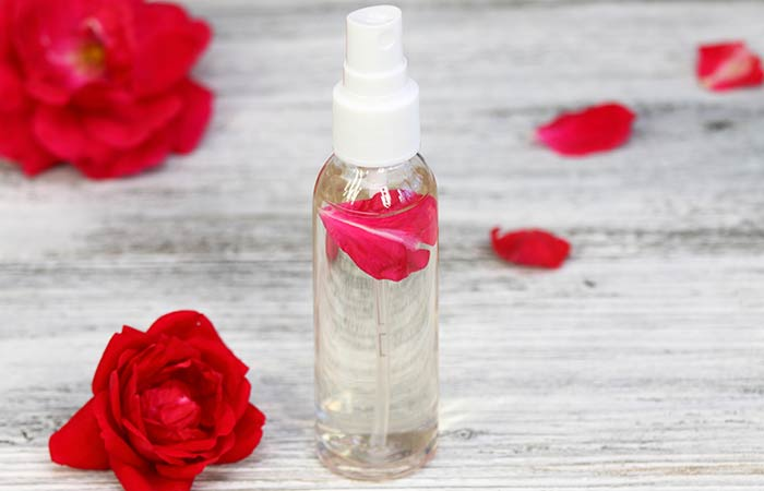 Rose water for dark underarms