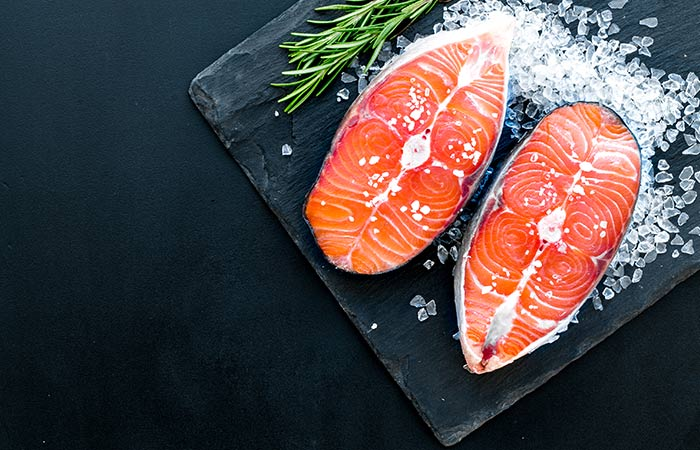 Salmon fish for Fibroids in Hindi
