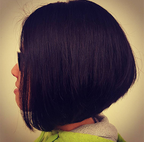 Slick Black Wedge Cut