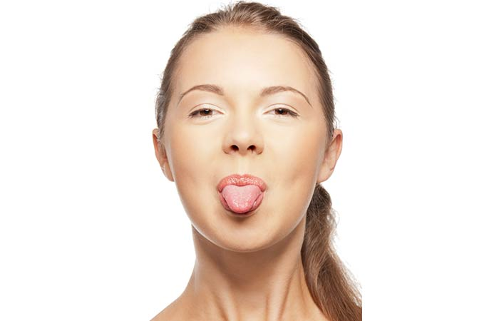 Stick Tongue Out for Double Chin in Hindi