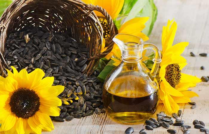 Sunflower oil for dark underarms