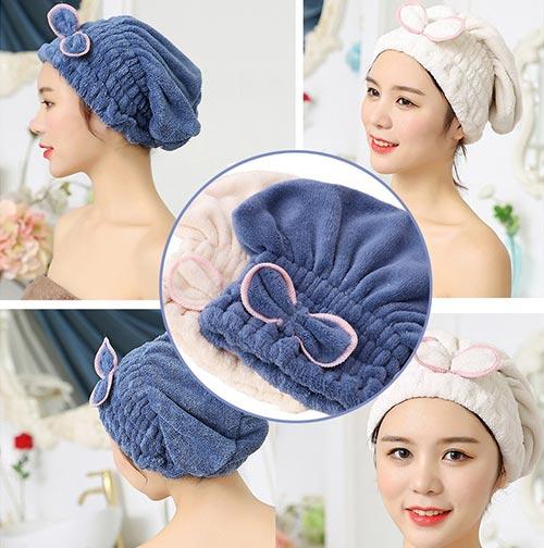 SweetCat Microfiber Hair Drying Caps