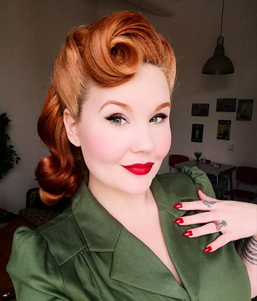 Victory Rolls With Hollywood Curls