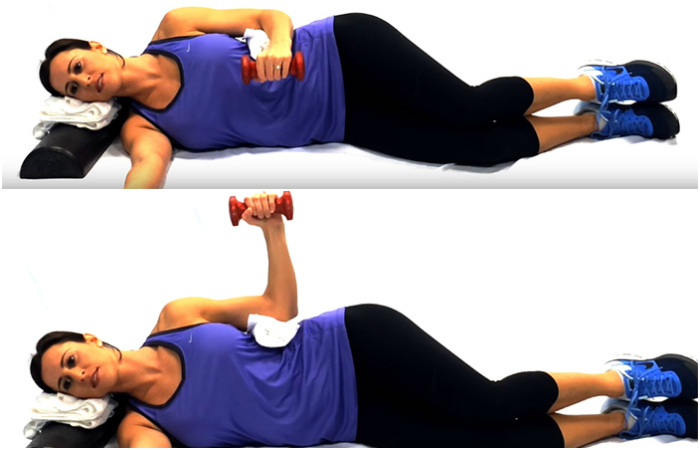 Side lying External Rotation - Rotator Cuff Exercises