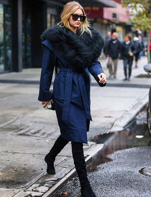 Warm In Winters - Gigi Hadid's Outfits