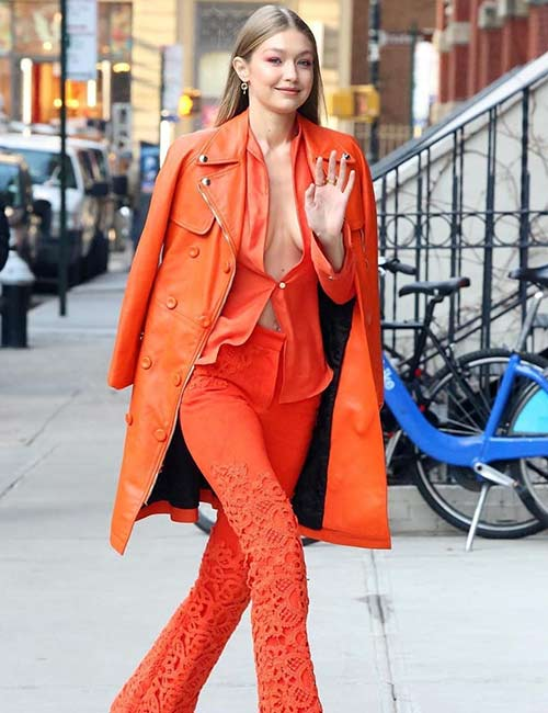 Everything Orange - Gigi Hadid's Outfits