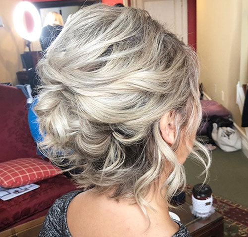 Short Curly Updo