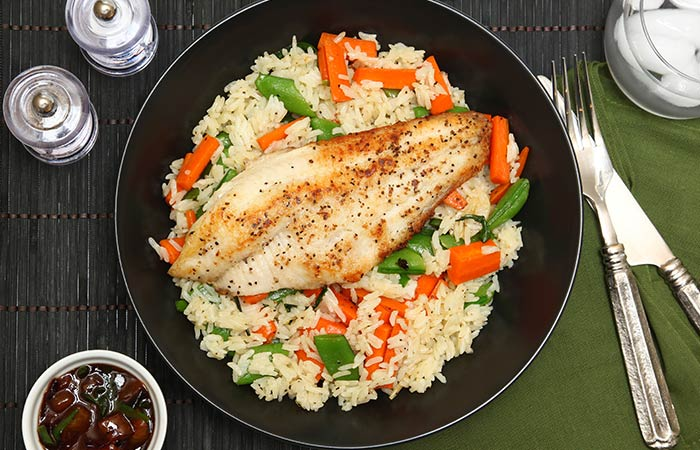 Fish And Rice Hearty Bowl
