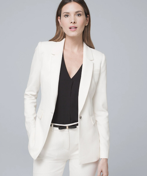 White Formal Suit - Black And White Outfits