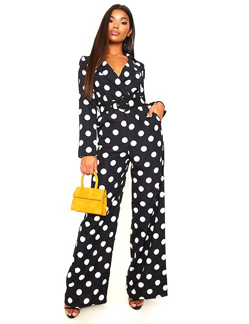 Polka Jumpsuit - Brunch Outfit