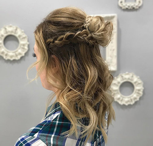 Braided Half Top Knot