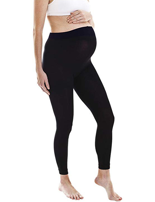 Fertile Mind Footless Tights - Maternity Leggings