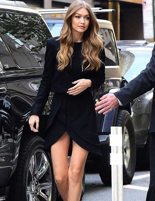 Black Monochrome Look - Gigi Hadid's Outfits