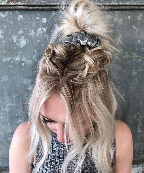 Double Braided Top Knot
