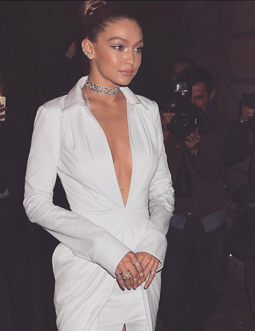 7.-White-Dress-With-Plunging-Neckline
