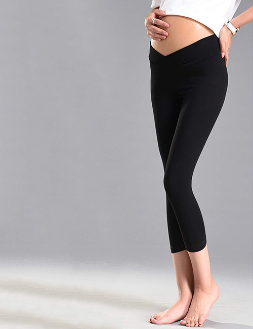 Foucome Under The Belly Maternity Leggings - Maternity Leggings