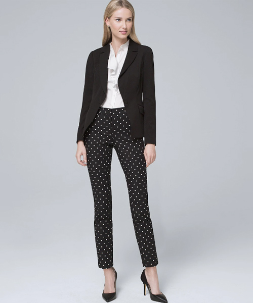 Polka Dots Formals - Black And White Outfits