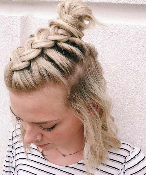 Dutch Braided Top Knot