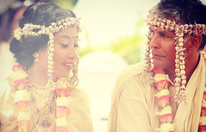 Ankita Konwar And Milind Soman