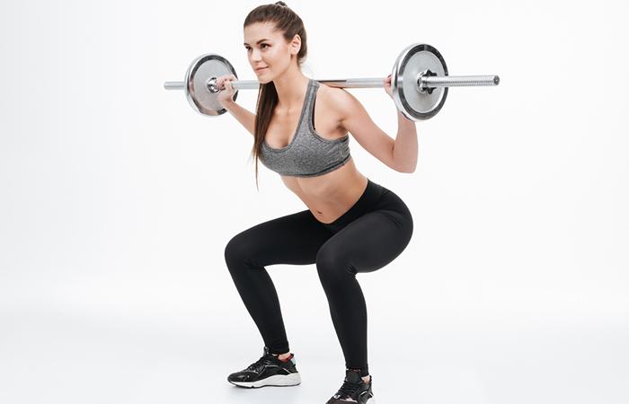 Barbel squat