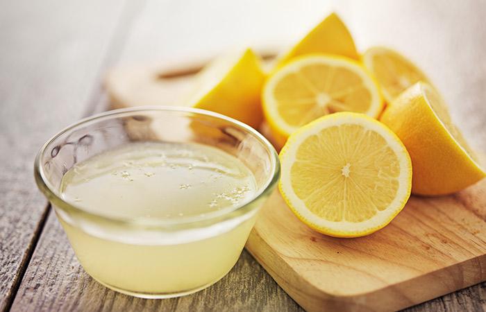 Coconut Oil With Lemon Juice