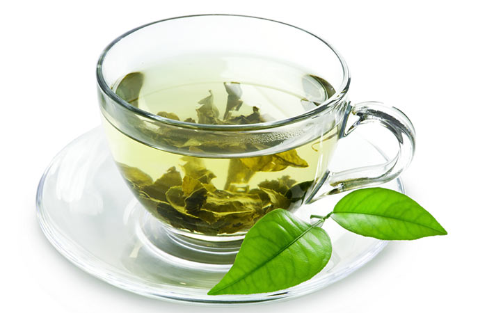 Drink Green Tea [196590010] Shutterstock </p> </div> <p>  When it comes to health, how can you forget green tea? Likewise, green tea is also a good option for the skin. Green tea has a wealth of properties. It is not only good for health but also good for the skin. It is full of nutrients and antioxidants, which is beneficial to your body. Contains catechins that are a type of antioxidant. It protects cells from damage. It improves blood flow, reduces cholesterol and blood pressure and improves skin health. EGCG, present in this tea, can also help in weight loss. Make a habit of drinking green tea daily for shining skin. </p> <h3>  11. Massaging the face </h3> <div id=