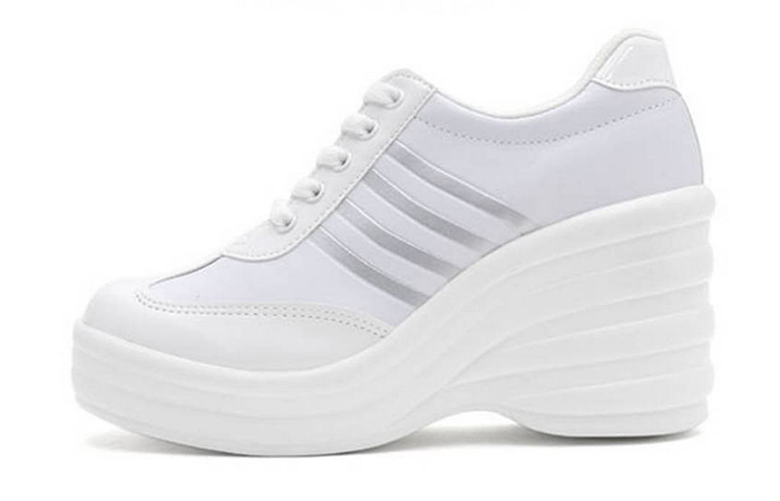 EpicStep Women's Cheerleaders Sneakers - White Sneakers
