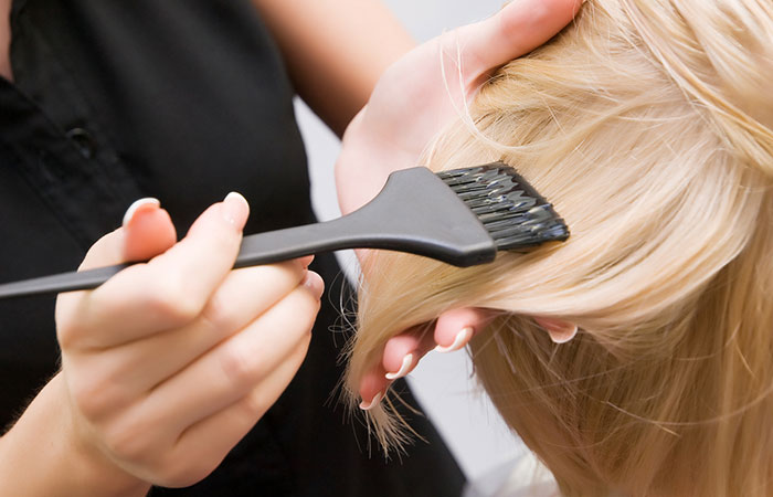 Keep hair healthy before processing treatment