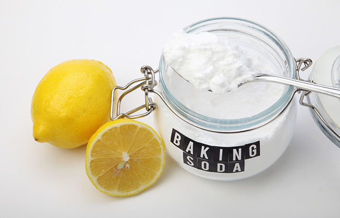 Shutterstock </p> </div> <p> According to nail experts, mixing lemon juice and baking soda creates a powerful cleansing paste for your nails. </li> <li> An old toothbrush </li> </ul> <p><strong> 2 tablespoons baking soda </li> <li> A plastic bowl </li> <li> An old toothbrush </li> </ul> <p><strong> Tutorial </strong> </p> <p> <strong> Step 1: </strong> Squeeze half of a lemon into a plastic bowl <br /> <strong> Step 2: </strong> Mix in the baking soda until you get an abrasive paste-like texture. <br /> <strong> Step 3: </strong> Step 4: </strong> Step 4: </strong> Step 4: </strong> Step 5: </strong> Tip: </em> If you do not have a baking soda, combine salt and lemon juice as an alternative. Salt acts as a gentle buffer, and when you mix it with lemon juice, you can get rid of virtually any stains </p> <h3> 2. Whitening Tooth Paste </h3> <div id=