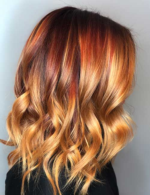 Red-Blonde Ombre