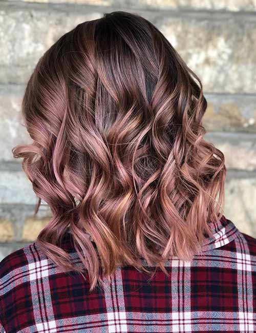 Rose Brown Ombre With A Blonde