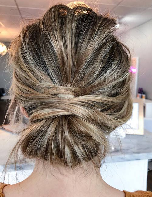 The Messy Low Bun
