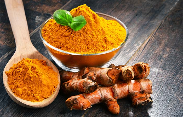 Turmeric for rustic skin