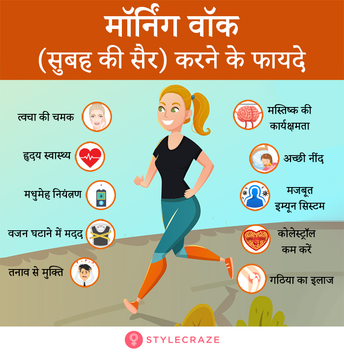 Benefits of Morning Walk in Hindi