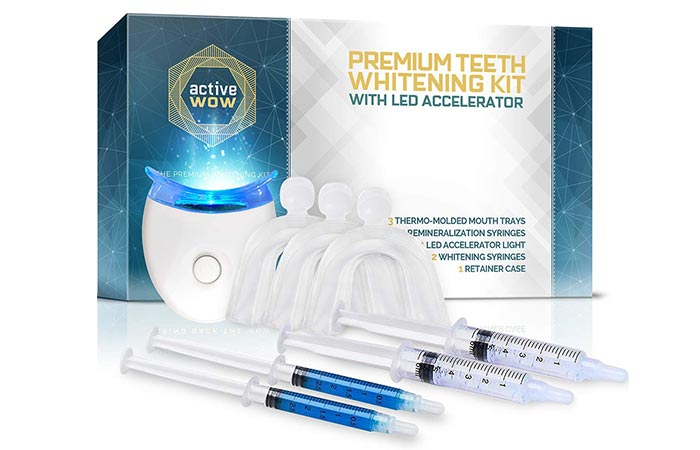 Active Premium Wow Teeth Whitening Kit - LED Teeth Whitening