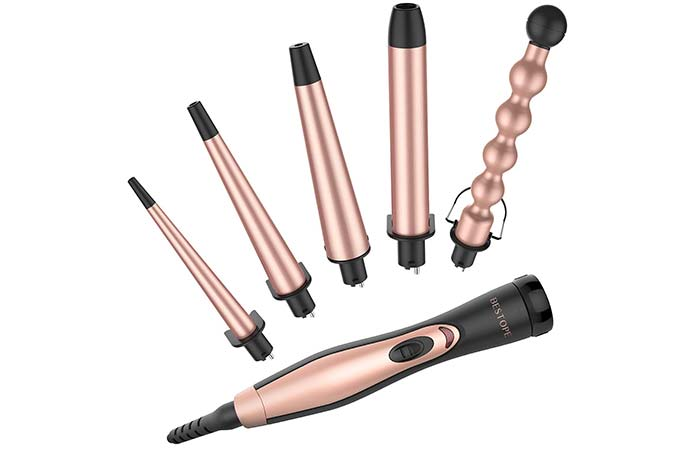 Bestope 5 In 1 Professional Curling Wand