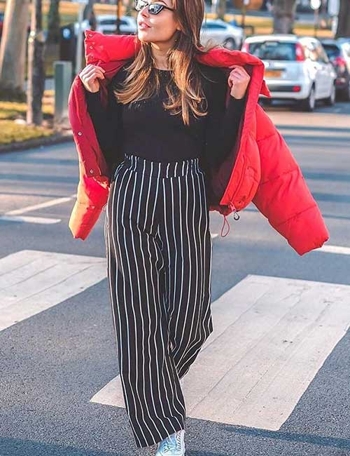 Black And White With Red - Colors That Go Well With Red Clothes