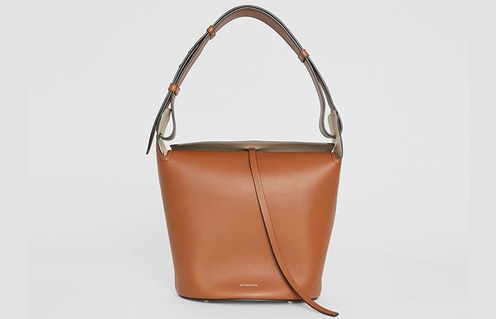 Burberry Medium Leather Bucket Bag - Bucket Bags