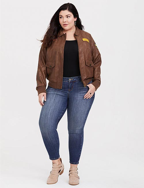 Captain Marvel Plus Bomber Jacket