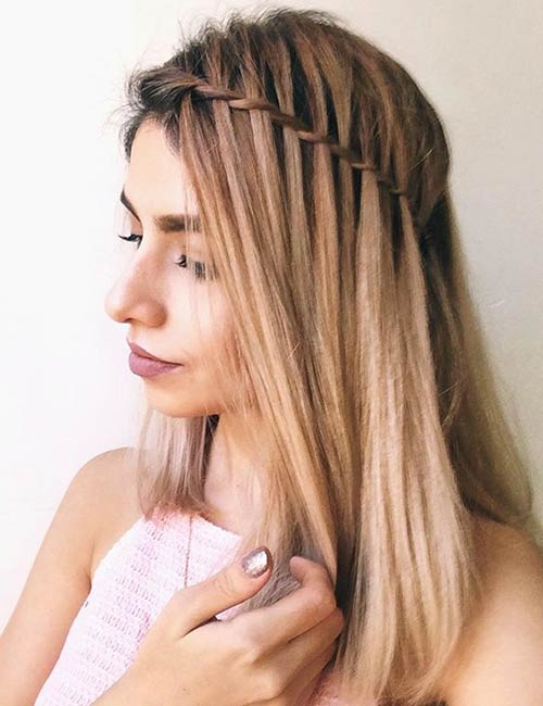 Classic Waterfall Braid