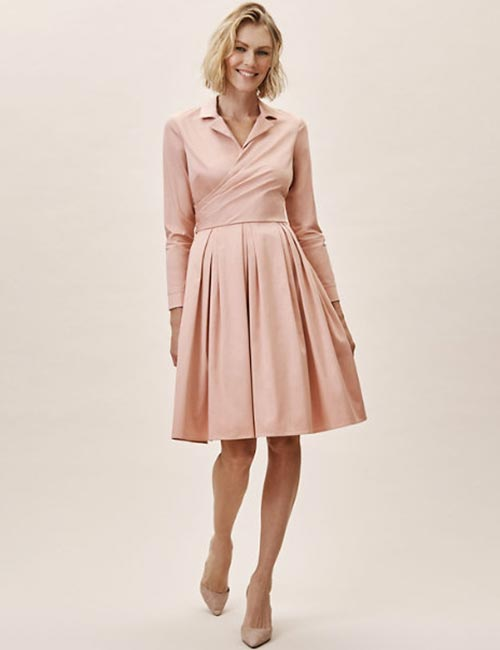 Collared Knee Length Dress