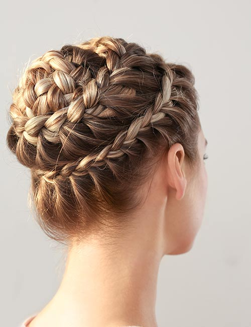 Crowned Waterfall Updo