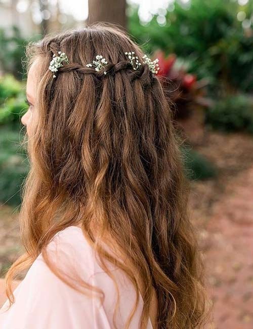 Elegant Waterfall Braid